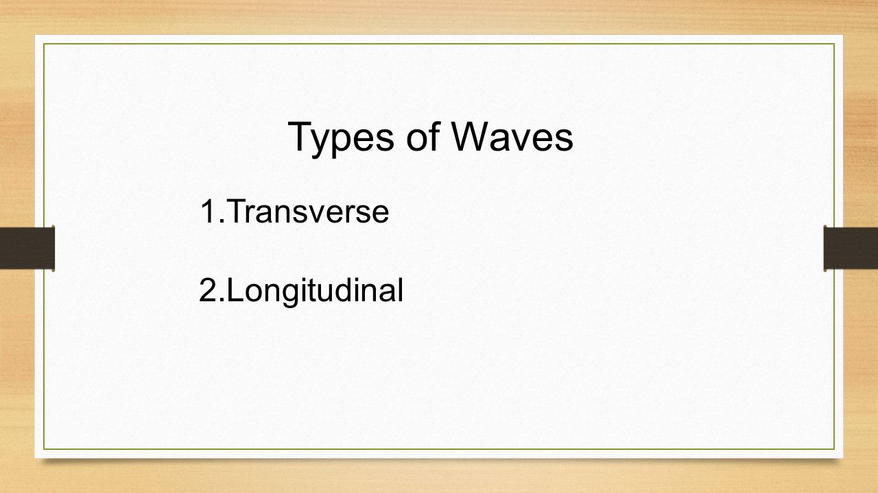 WAVES Wave: a disturbance that transfers energy from place to place Most waves need to travel through a medium Medium: material through which a wave t