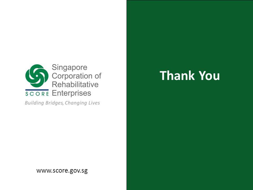 Thank You www.score.gov.sg