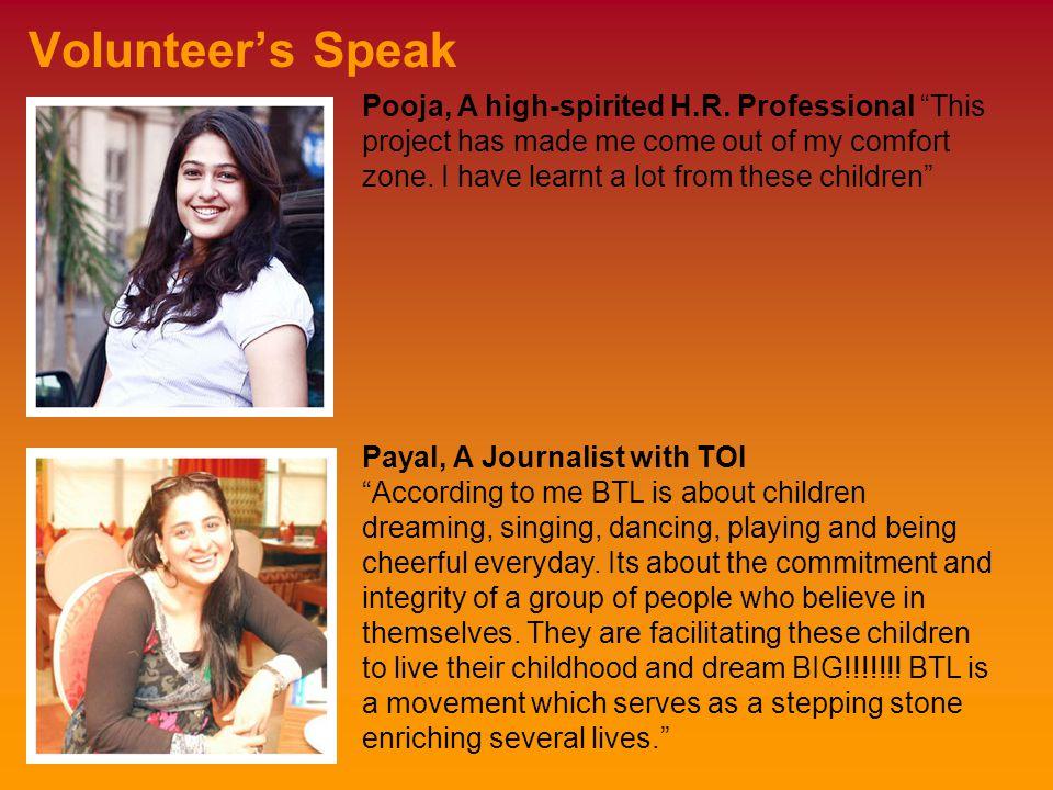 Volunteer's Speak Pooja, A high-spirited H.R.
