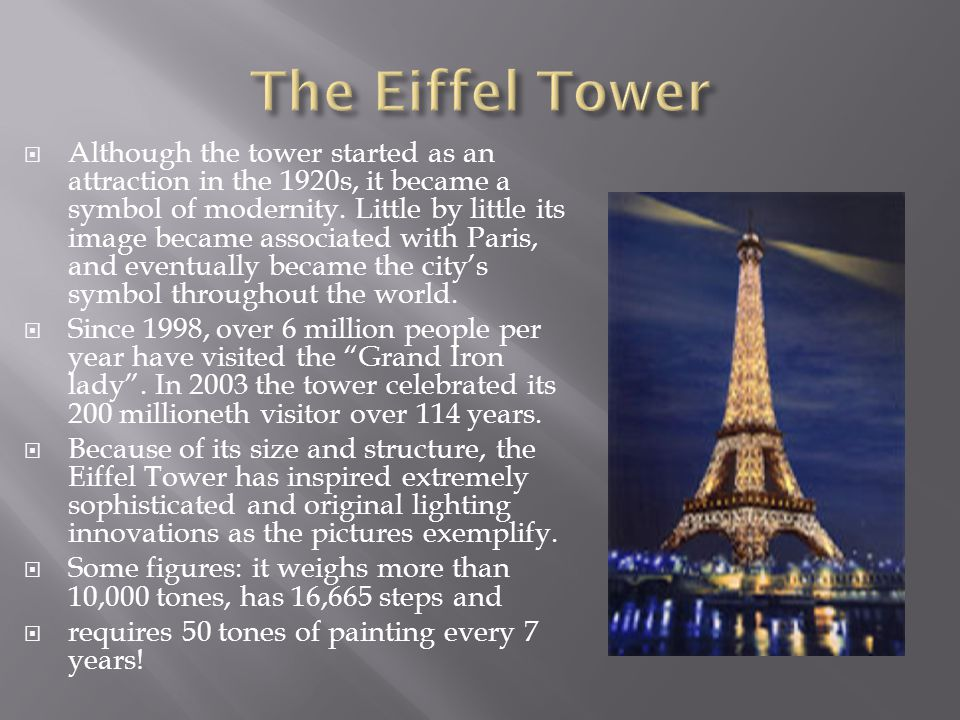  Although the tower started as an attraction in the 1920s, it became a symbol of modernity.