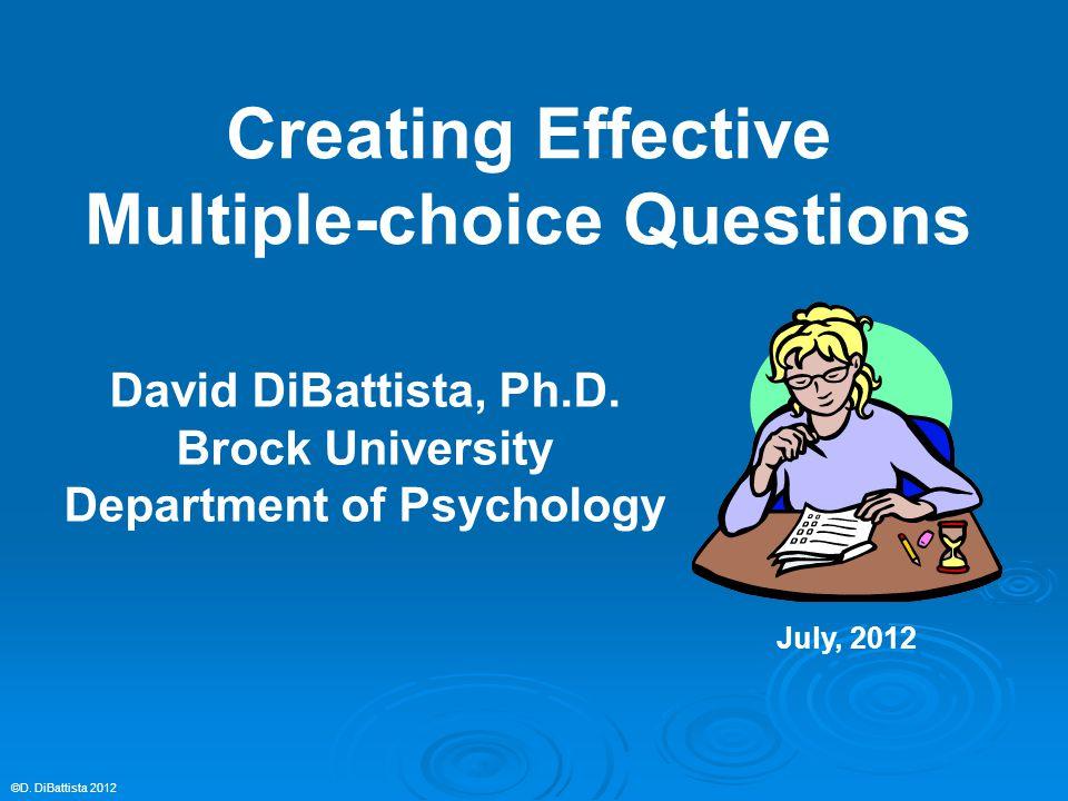 David DiBattista, Ph.D.