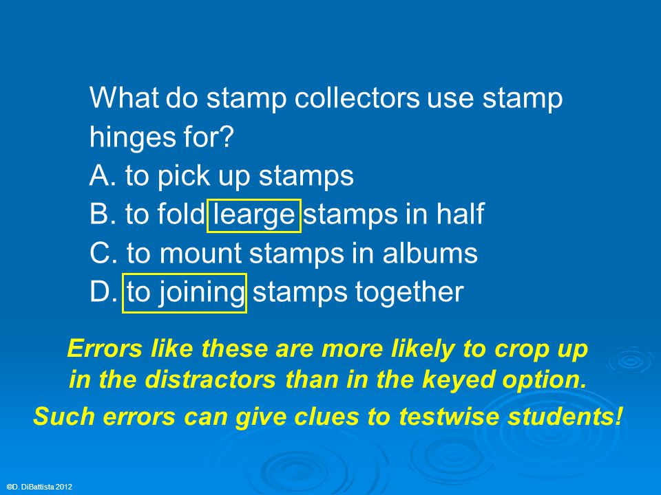 What do stamp collectors use stamp hinges for? A. to pick up stamps B. to fold learge stamps in half C. to mount stamps in albums D. to joining stamps
