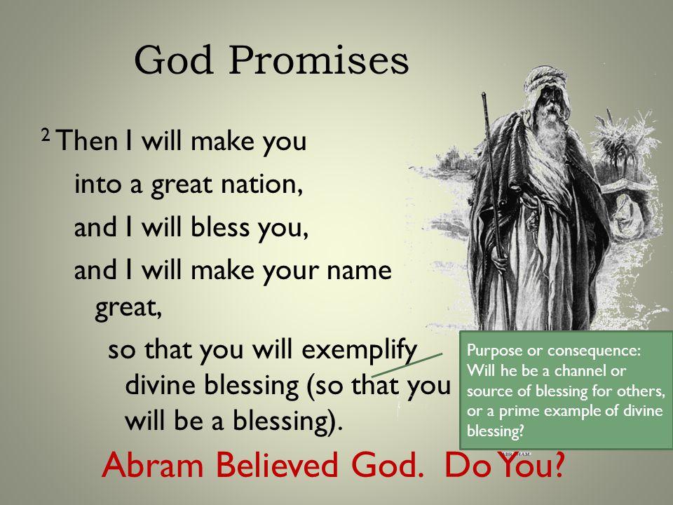 God Blesses Through..