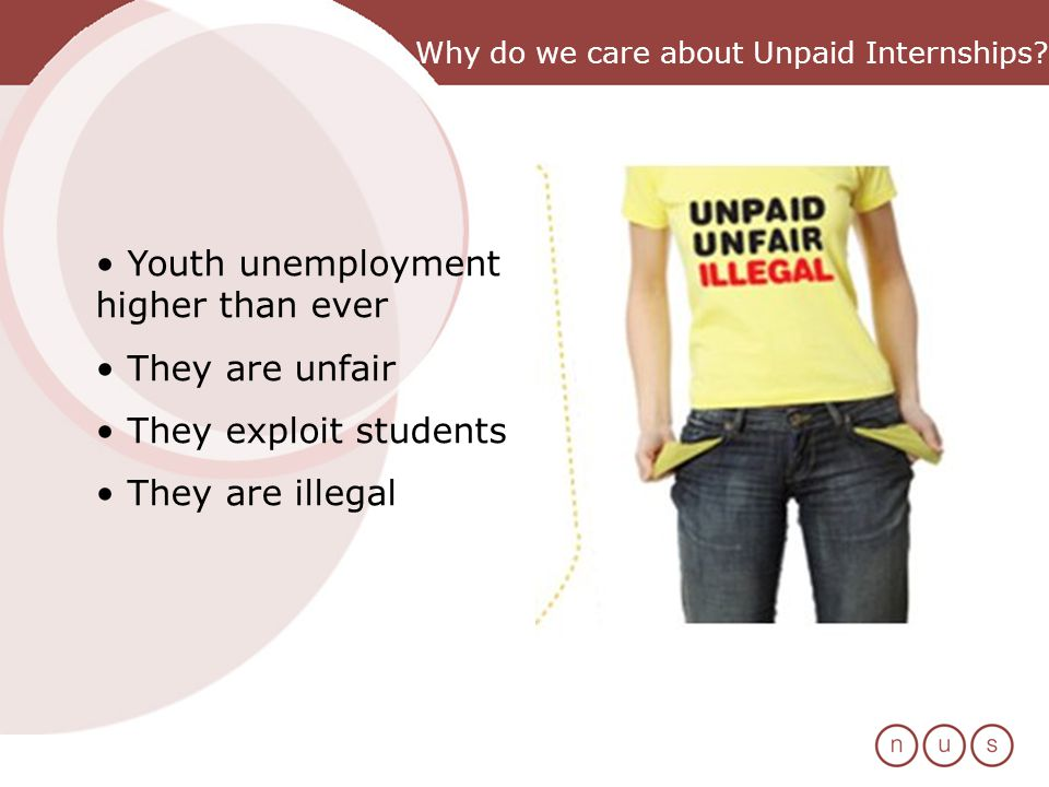 Why do we care about Unpaid Internships.