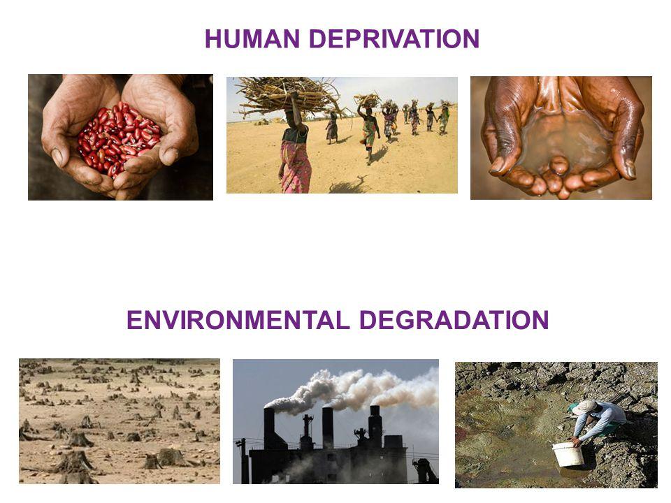 ENVIRONMENTAL DEGRADATION HUMAN DEPRIVATION