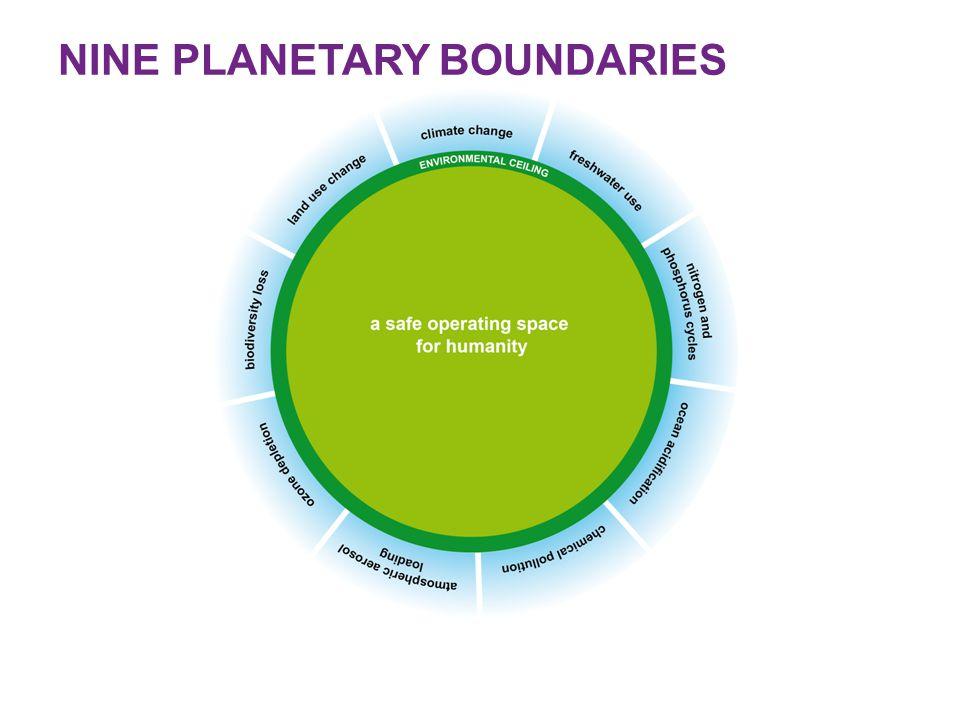 NINE PLANETARY BOUNDARIES