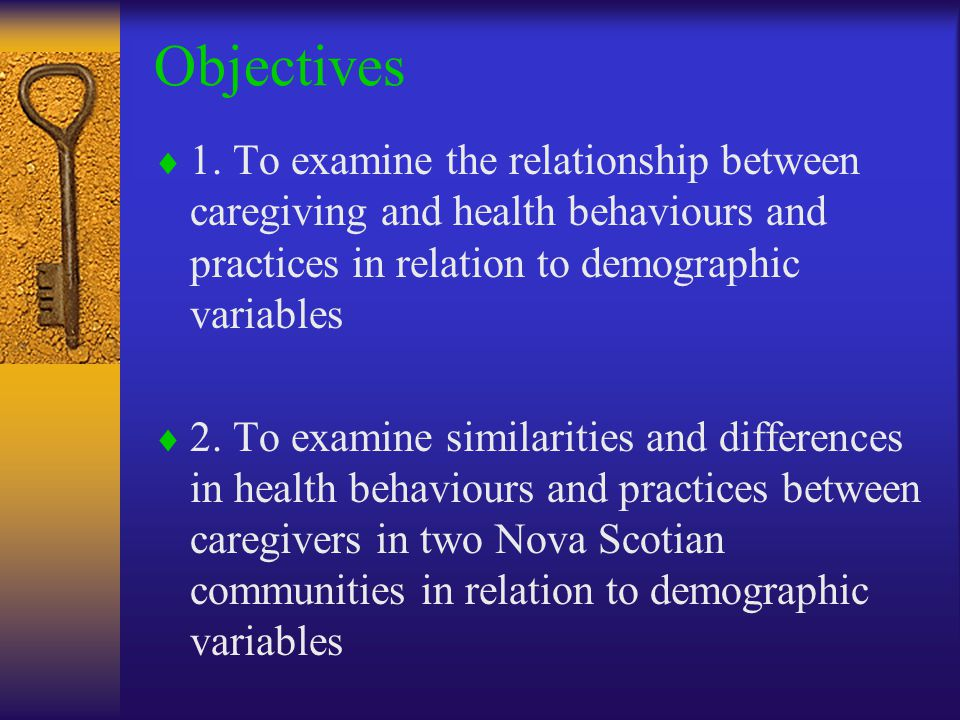 Objectives  1.