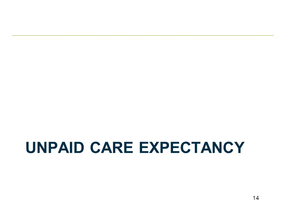 UNPAID CARE EXPECTANCY 14