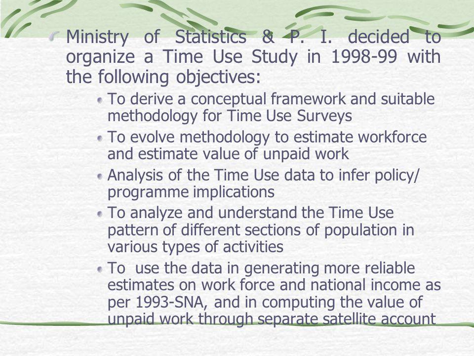 Ministry of Statistics & P. I.