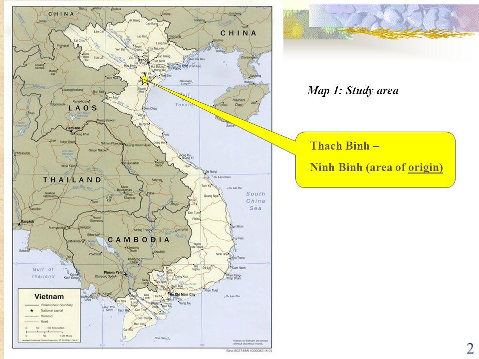 2 Map 1: Study area Thach Binh – Ninh Binh (area of origin)