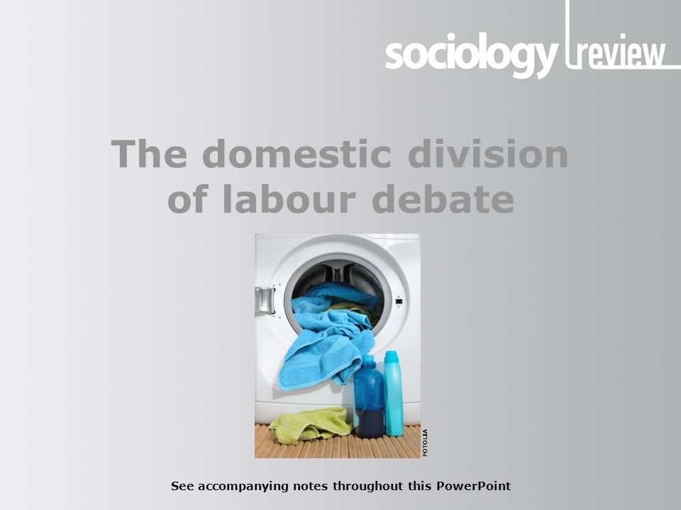The domestic division of labour debate See accompanying notes throughout this PowerPoint FOTOLIA