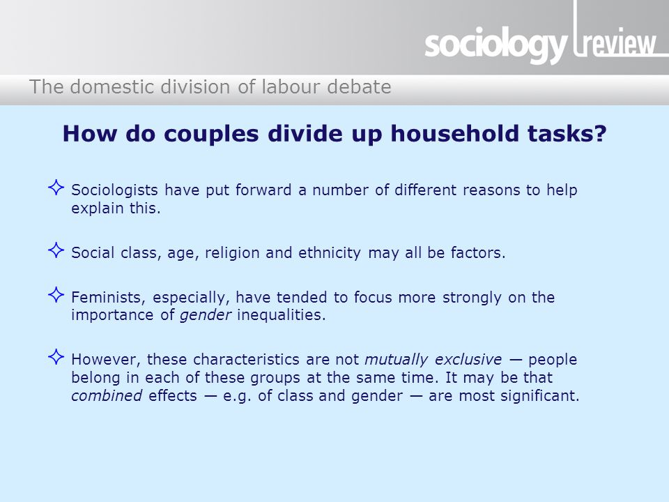 The domestic division of labour debate Figure 3: European Social Survey study, 2013 (some international comparisons)