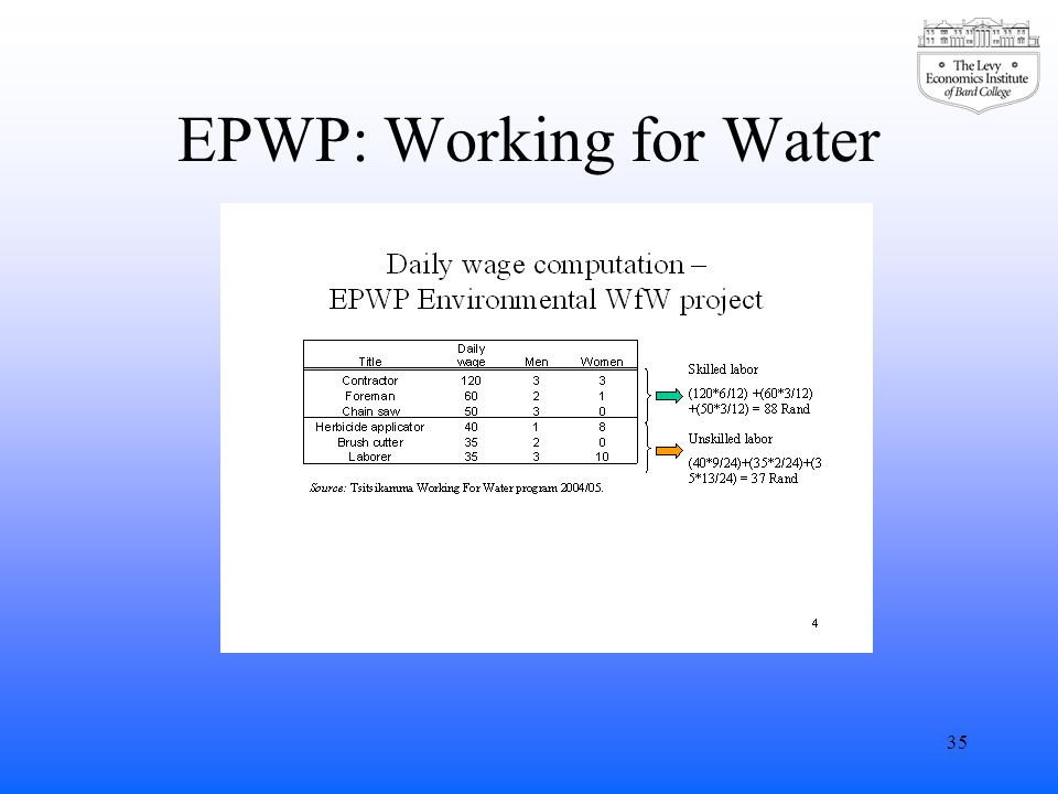 EPWP: Working for Water 35