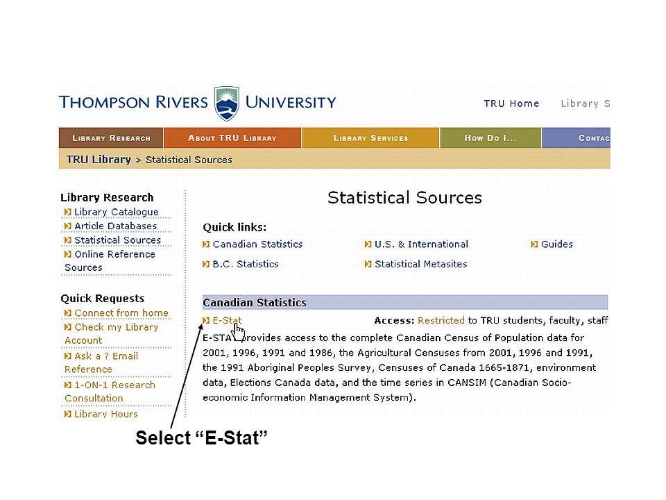 Select E-Stat