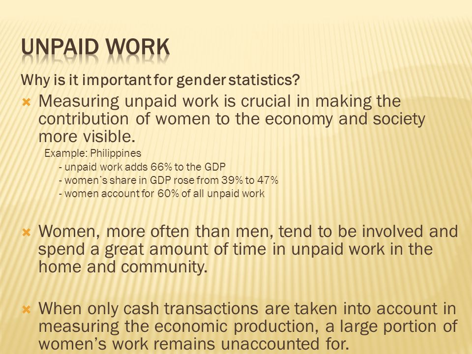 Why is it important for gender statistics.