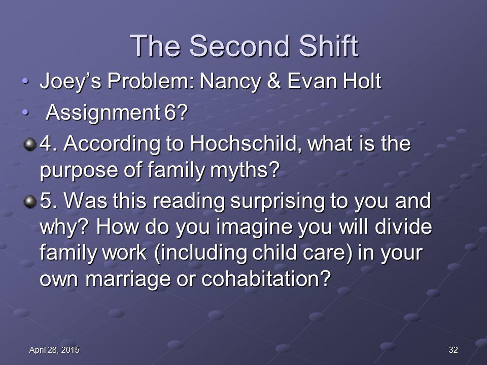 The Second Shift Joey's Problem: Nancy & Evan HoltJoey's Problem: Nancy & Evan Holt Assignment 6.