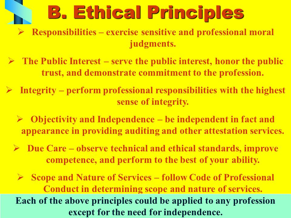 C.Rules (Part II) Rules represent minimum standards of ethical conduct stated as specific rules.