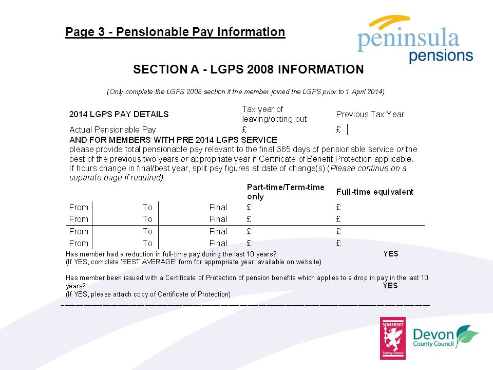 Page 3 - Pensionable Pay Information SECTION A - LGPS 2008 INFORMATION
