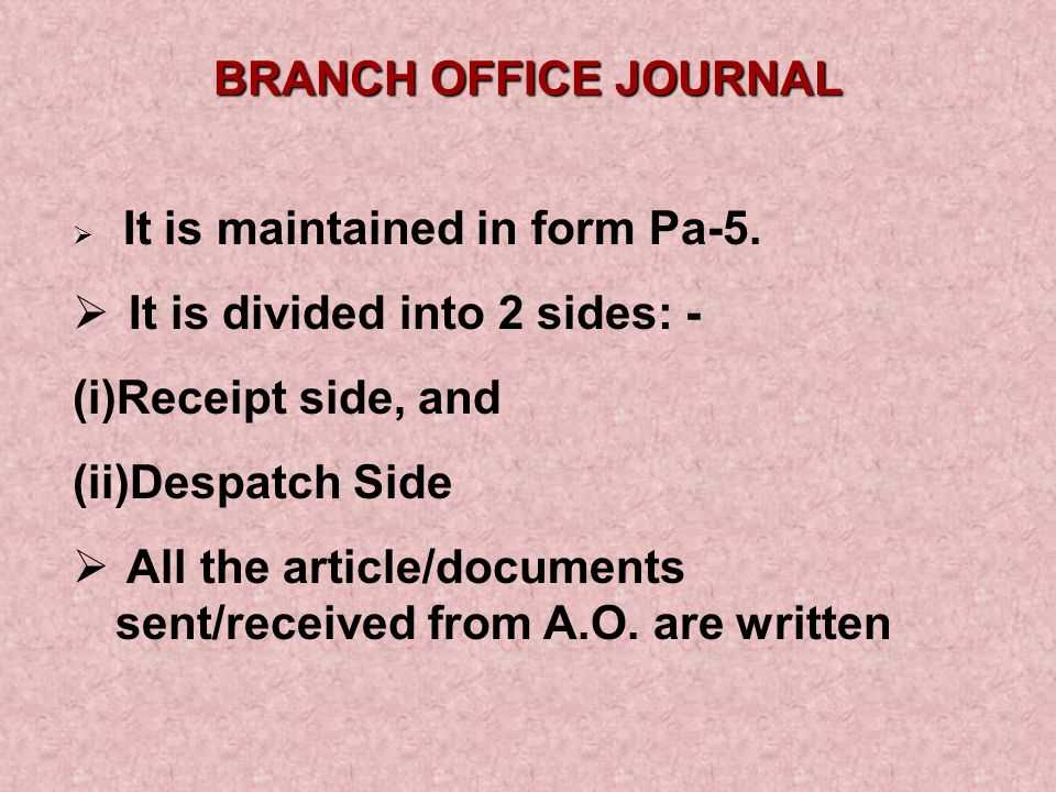  Total postage due on unpaid articles returned to the AO by the BPM should be entered in the column for registered articles returned ,  Similarly, total postage due to articles in deposit at the BO should be entered below the column provided for registered & other accountable articles in deposit , **** Rule 134 of BO Rules*****