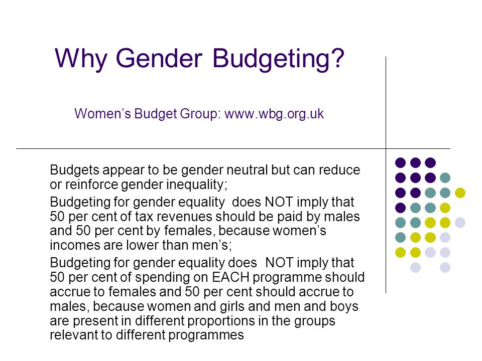 Why Gender Budgeting.