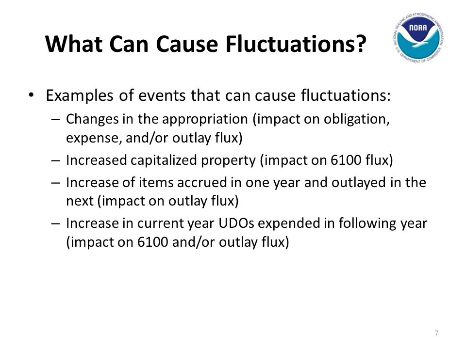 Fluctuation Explanations Explanations should EXPLAIN WHY the variance exists and not simply identify WHAT components make up the difference.