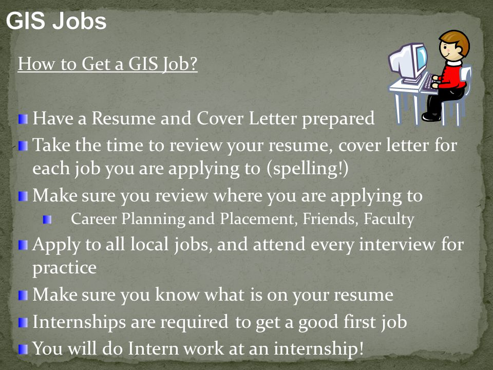 How to Get a GIS Job.