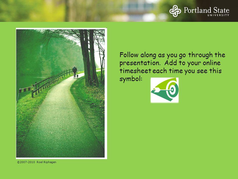 Follow along as you go through the presentation.