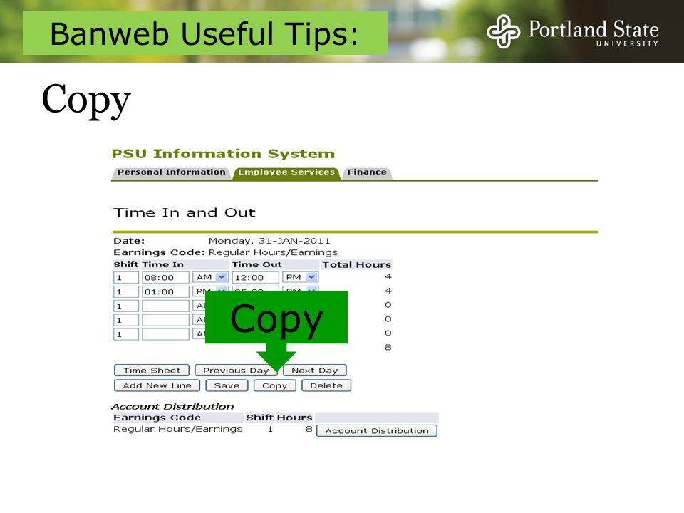 Copy Copy Banweb Useful Tips: