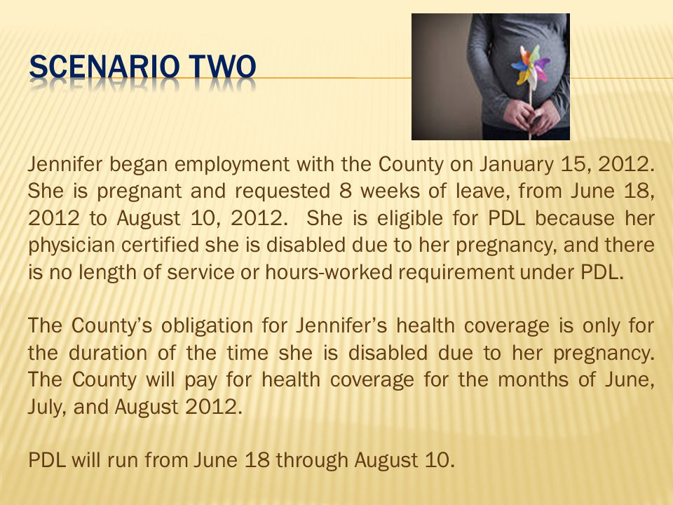 Jennifer began employment with the County on January 15, 2012.