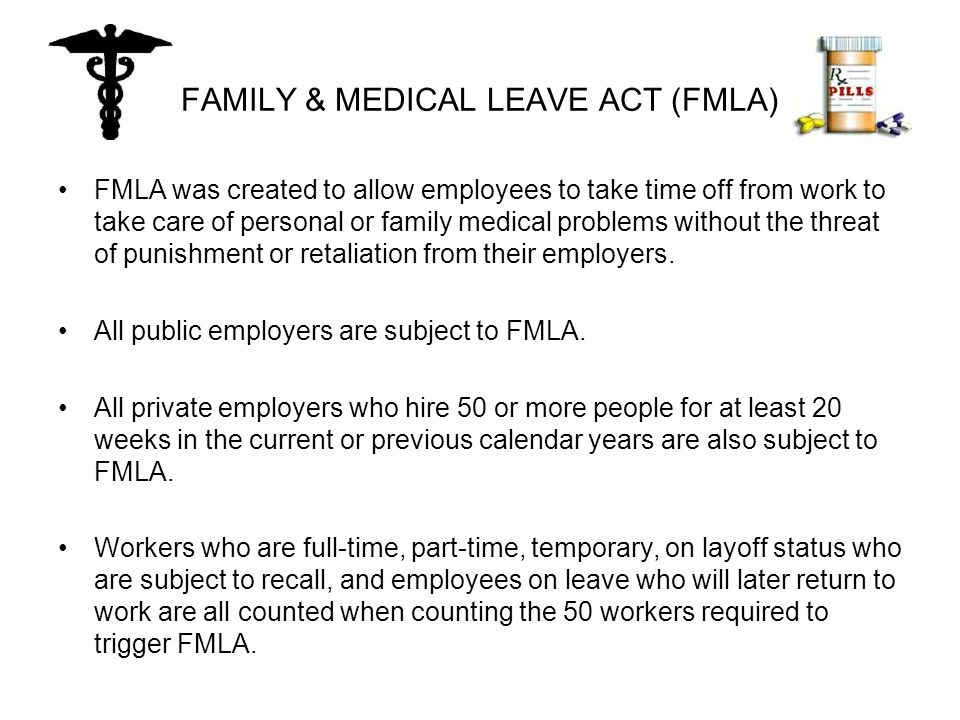 FAMILY & MEDICAL LEAVE ACT (FMLA) If an employer is not able to immediately determine if it will suffer harm from the absence of a key employee, the employer must provide written notice to the employee when the employee notifies the employer of his or her intention to take FMLA leave.