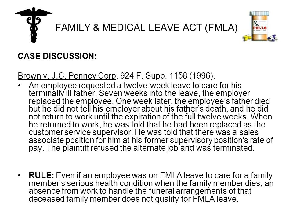 FAMILY & MEDICAL LEAVE ACT (FMLA) CASE DISCUSSION: Brown v.