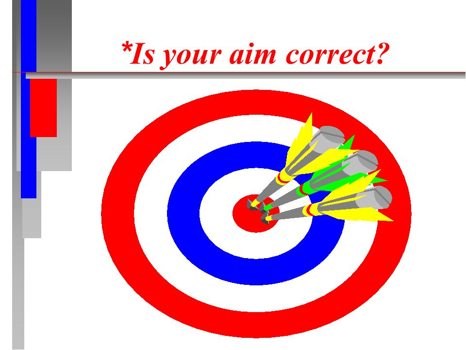 * Is your aim correct?