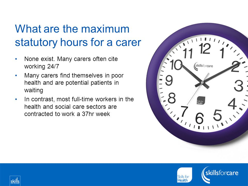What are the maximum statutory hours for a carer None exist.