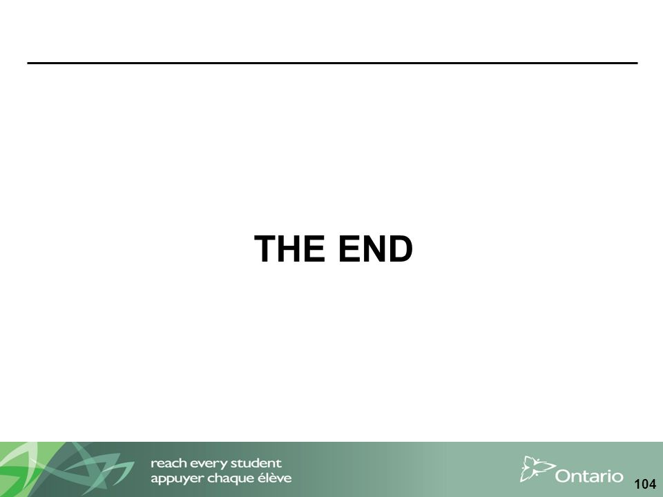 THE END 104