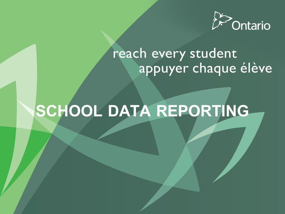 SCHOOL DATA REPORTING