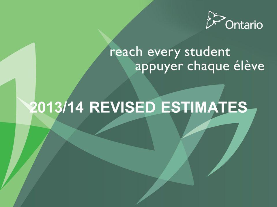 2013/14 REVISED ESTIMATES