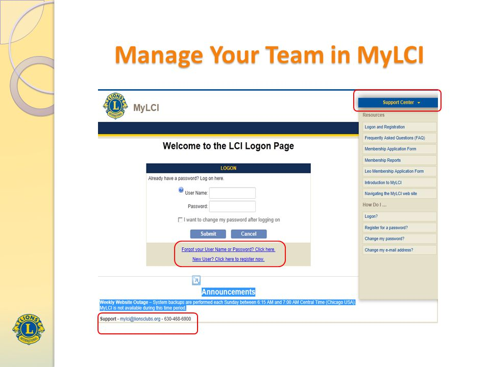 Manage Your Team in MyLCI