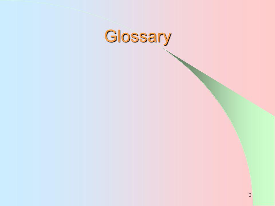 2 Glossary