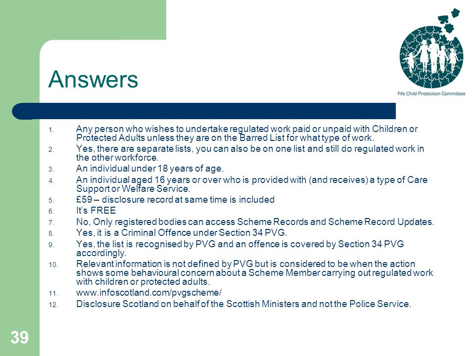 39 Answers 1.