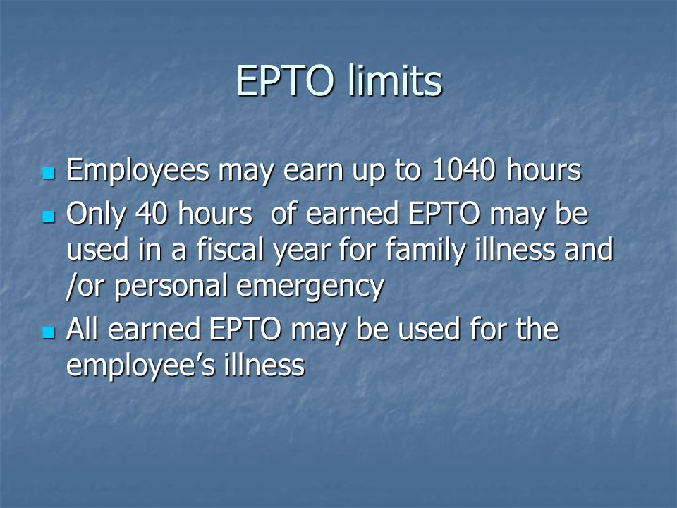 Family Medical Leave Act FMLA is a federal law passed in 1993 FMLA is a federal law passed in 1993 Protection for employees who qualify Protection for employees who qualify Must work for the employer one year Must work for the employer one year Must have worked 1250 hours in the past 12 months Must have worked 1250 hours in the past 12 months Employer must have 50 or more employees Employer must have 50 or more employees Qualifying Reasons Qualifying Reasons Serious Medical Condition Serious Medical Condition Employee's parent, child, or spouse Employee's parent, child, or spouse Birth of a child Birth of a child