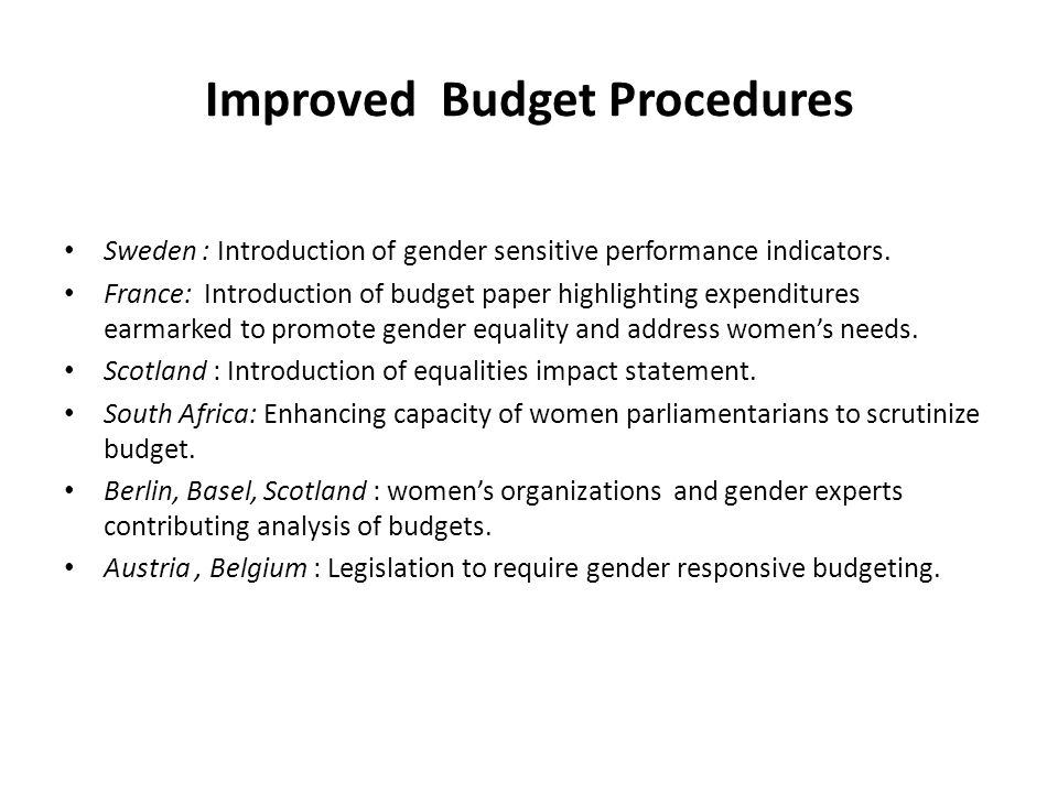 Improved Expenditures to Support Gender Equality Australia: introduction of comprehensive paid parental leave, 2009/10.