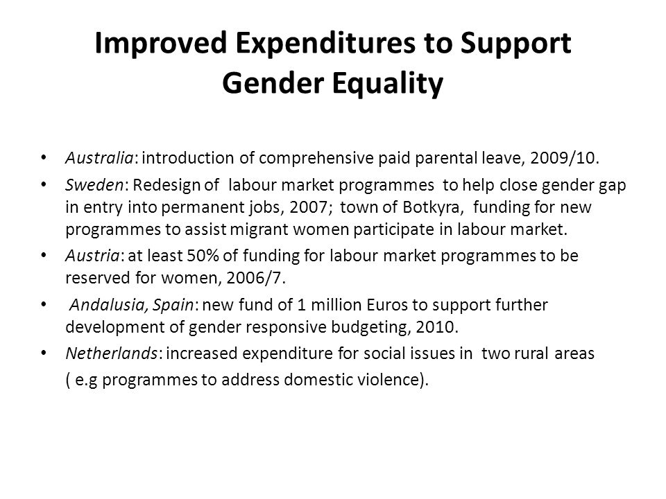 Improved Gender Equality in Income Tax UK: redesign of Working Tax Credit ( WTC) WTC is an income transfer that tops up wages so as to make having a job pay more than living on benefits.