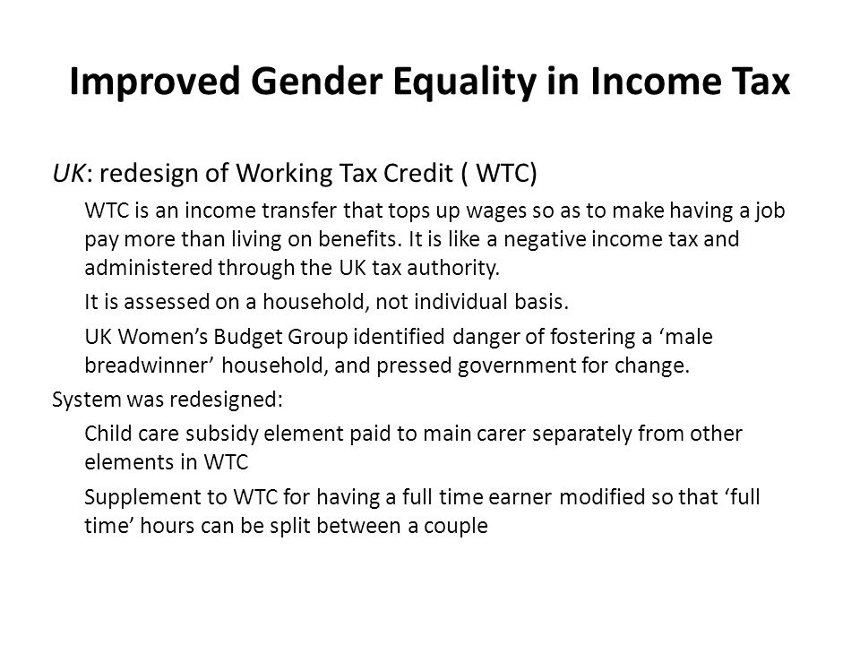 Improved Gender Equality in Indirect Taxes South Africa: exemption of paraffin from VAT In South Africa a selection of basic foodstuffs are zero-rated, including brown bread, maize meal, dried beans, milk powder, rice, vegetables and fruit.