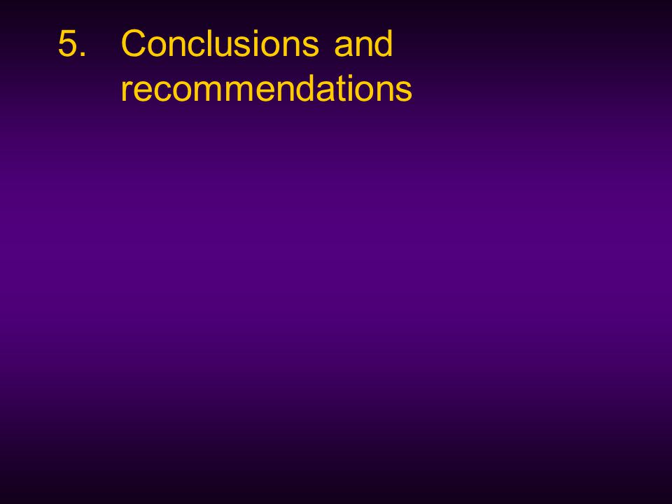 5.Conclusions and recommendations