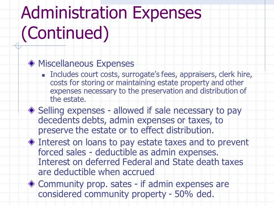 Estate v.Income Tax Deduction Sec.