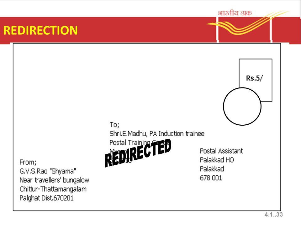 REDIRECTION 4.1..33