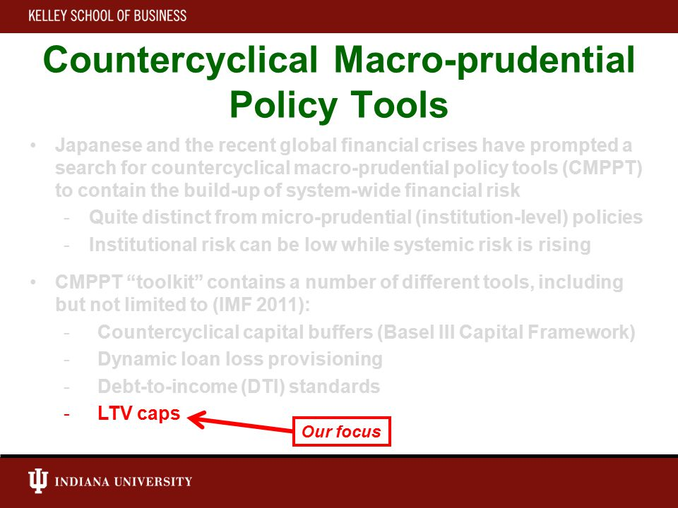 Our Analysis Three parts 1.LTV Cyclicality (Univariate Analysis): - Are LTV ratios pro-cyclical.
