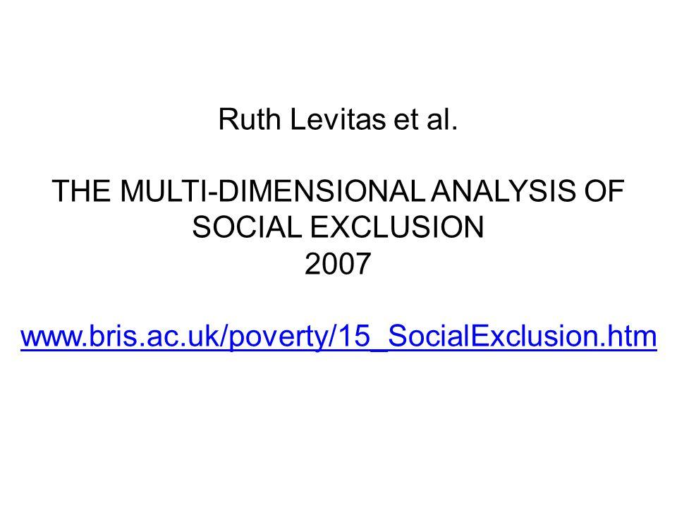 Ruth Levitas et al.