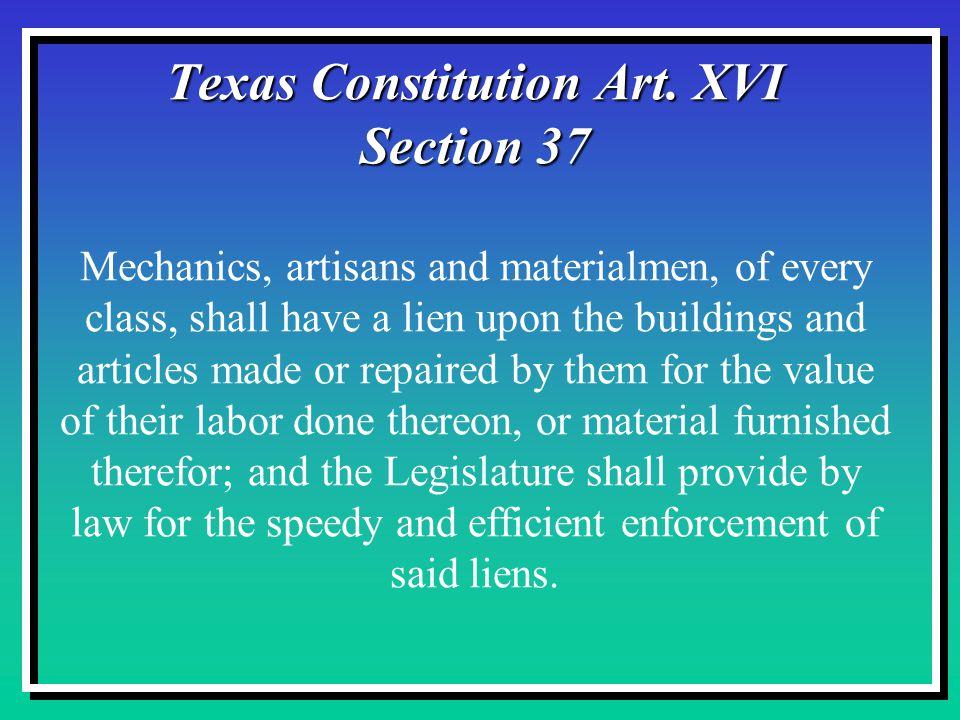 Texas Constitution Art.XVI Section 37 Texas Constitution Art.