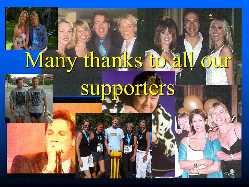 Many thanks to all our supporters